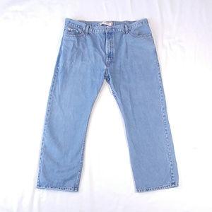 Levis 505 Straight Fit Light Wash Blue Jeans